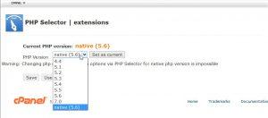 schimbare versiune PHP din interfata cPanel - Experthost.ro